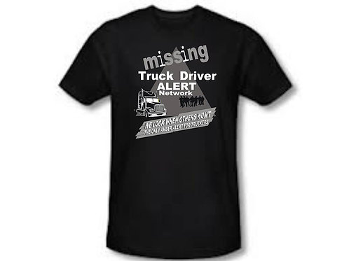 Missing Trucker T-Shirt Grey Triangle