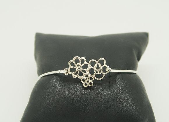Bracelet rigide Petites Fleurs