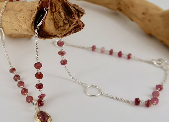 Colliers Tourmalines framboises