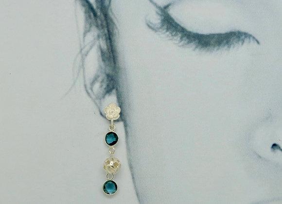 Boucles d'oreille Fleur et Blue London