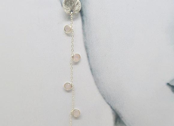 Boucles d'oreille Guirlande de pampilles roses