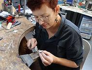 Christine Bouet à l'atelier