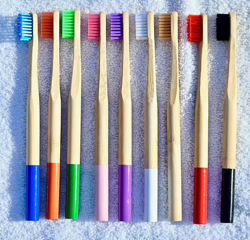 Collection View of Ecology Soap's Colorful Compostable Bamboo Toothbrushes