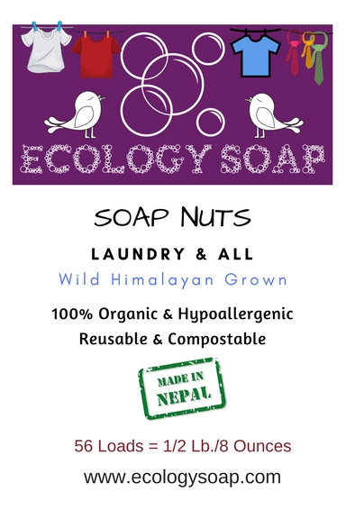 Label of Ecology Soap's Soap Nuts
