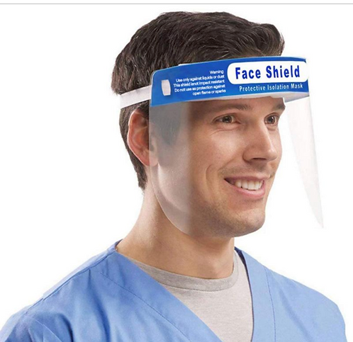 High Visibility Protective Face Shield