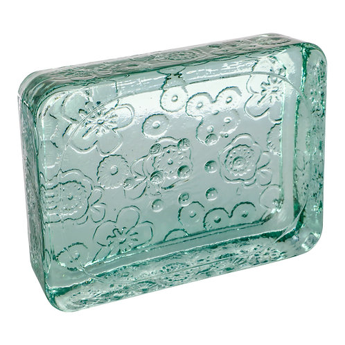 Front View of Ecology Soap's Vintage Glass Soap Dish