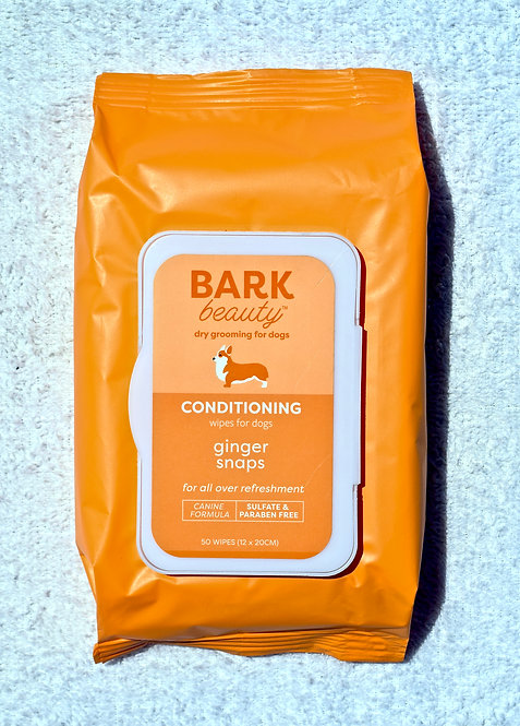 "Bark Beauty ""Ginger Snap"" Grooming Wipes"