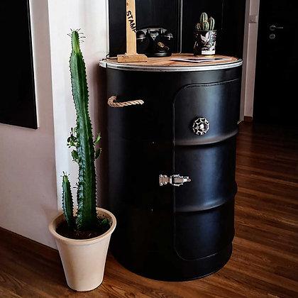 Bar bidon recyclé - noir mat