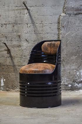 Fauteuil baril industriel recyclé - Noir