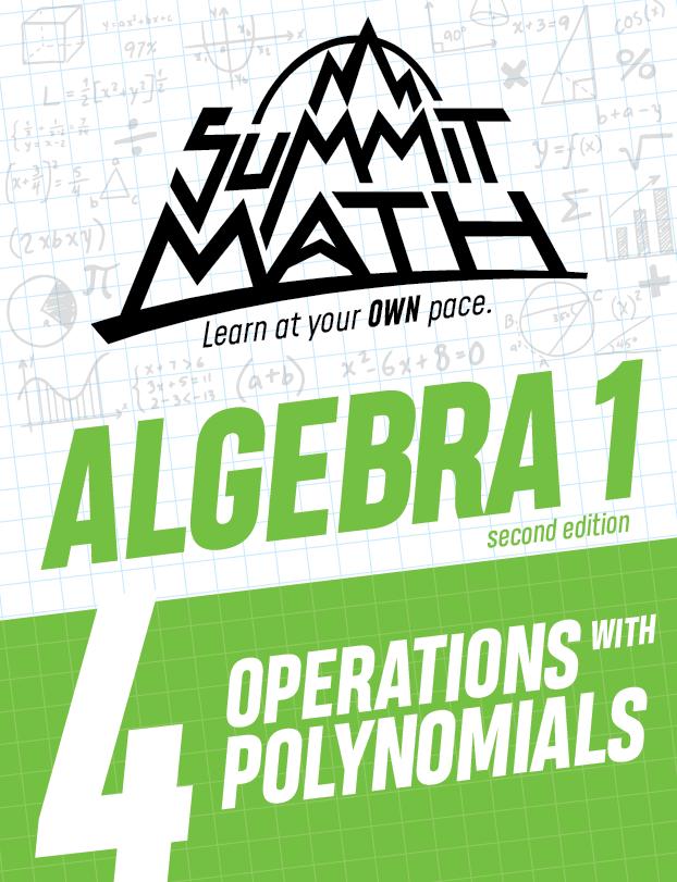 Algebra 1 Book 4