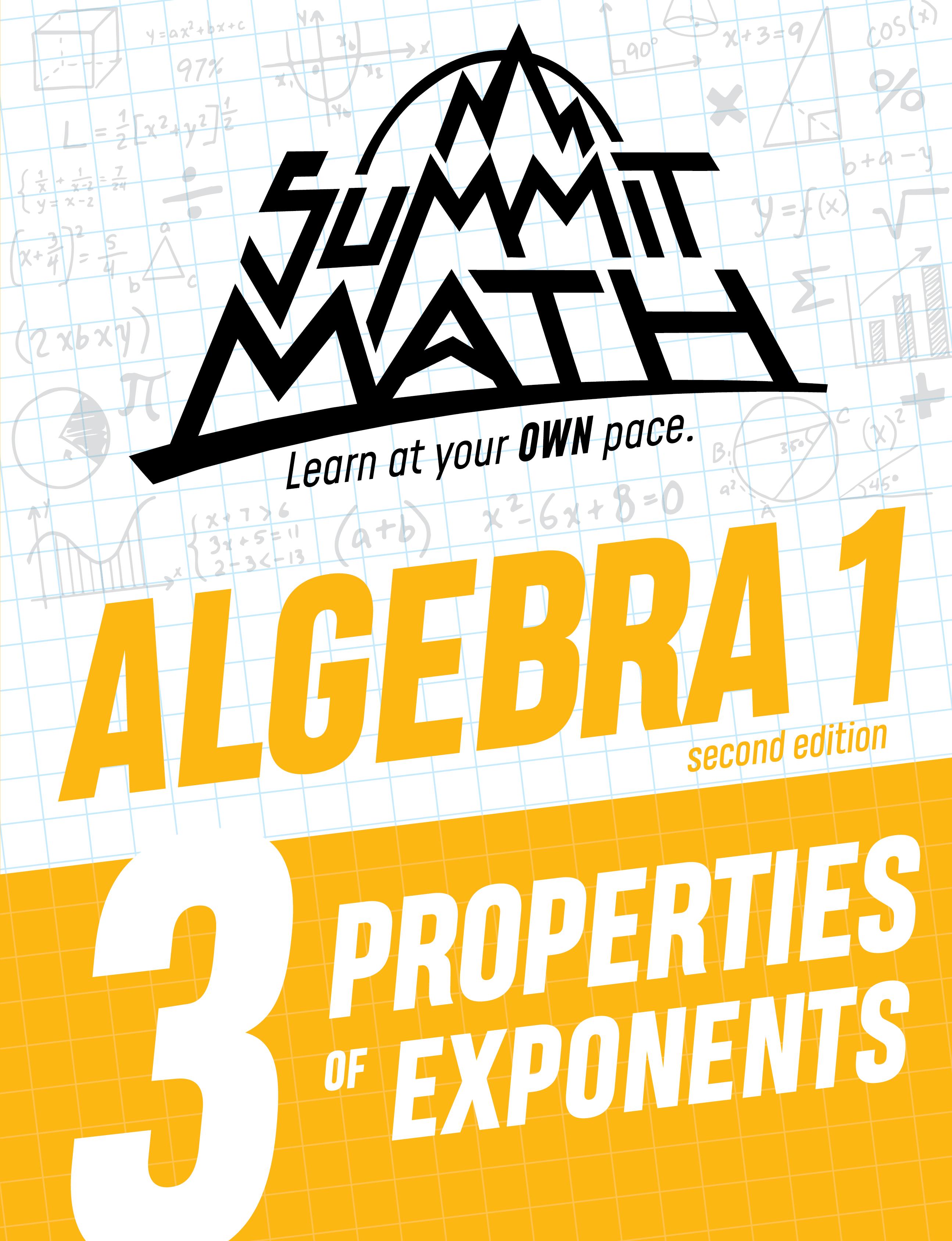 Algebra 1 Book 3