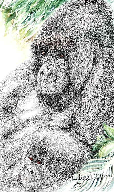 """Mountain Gorilla Mama"""