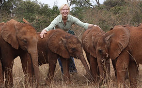 Becci Crowe at The David Sheldrick Wildlife Trust Kenya