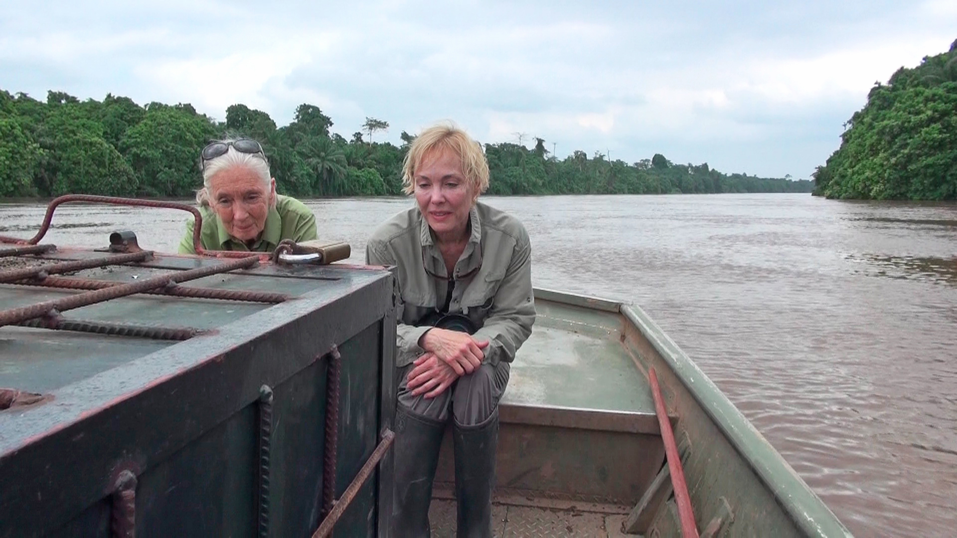 Dr Goodall & Becci in the Congo