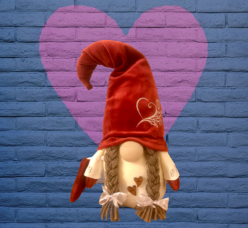 Girl Red Nordic Gnome