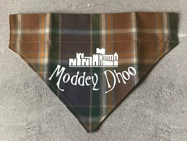 Hunters Tartan Moddey Dhoo Over The Collar Dog Bandana