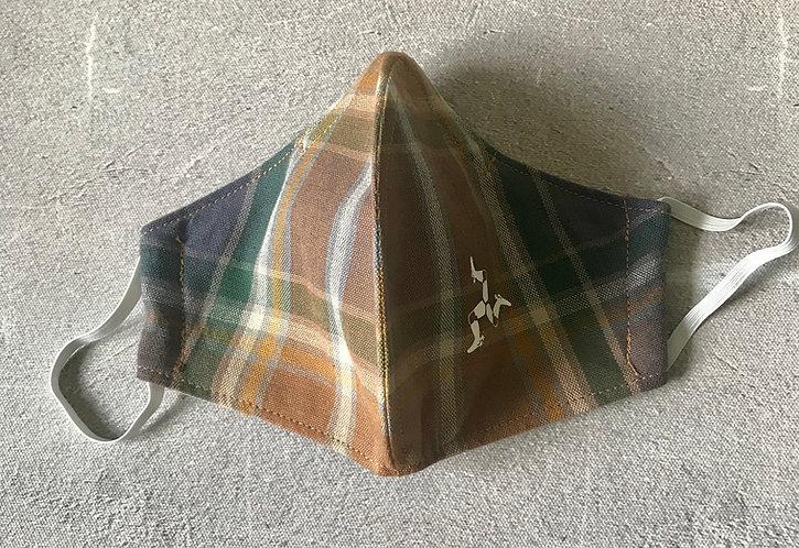 Manx Hunters Tartan 3 Layered Cotton Face Masks