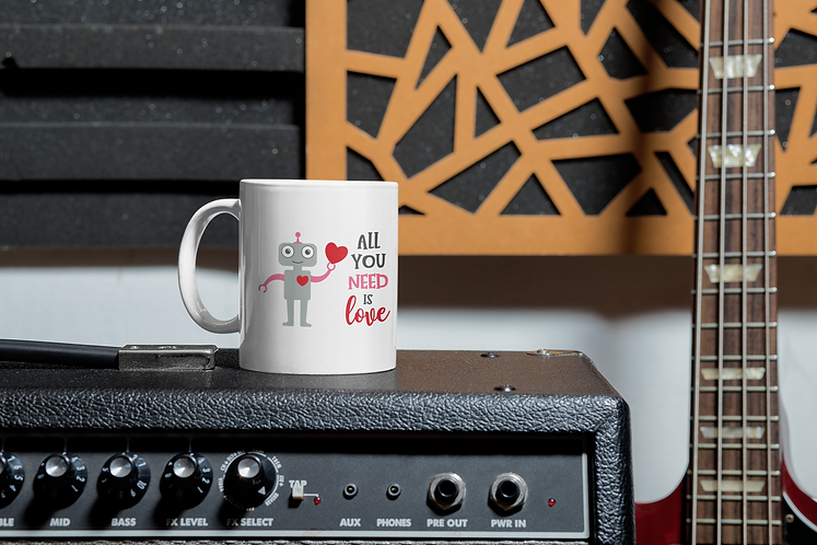 Personalised Mug - All You Need Is Love Robot