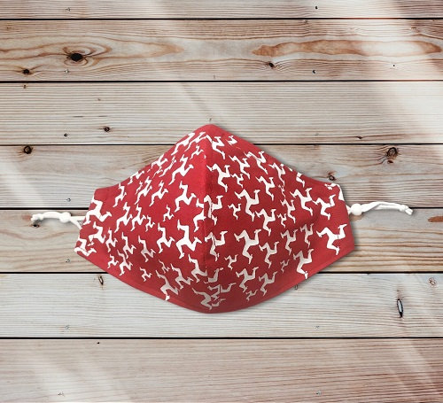Red and White 3 Legs 3 Layered Cotton Face Masks  View product: https://www.make