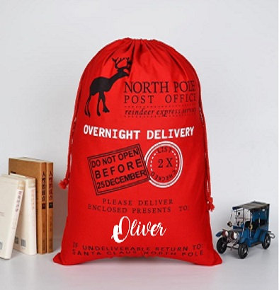Personalised Red Overnight Delivery Santa Sack 70cm x 50cm £8.50 - £12.00
