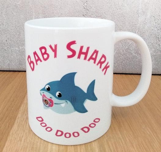 Baby Girl Shark Mug