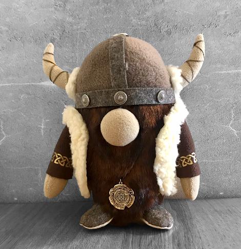 Handmade Nordic Viking Boy Gnome with Brown Beard