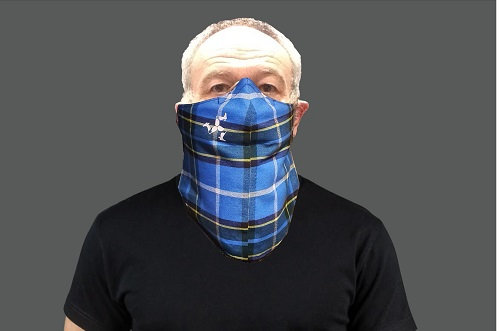Laxey Manx Tartan or Hunters Tartan 3 Layered Cotton Beard Mask