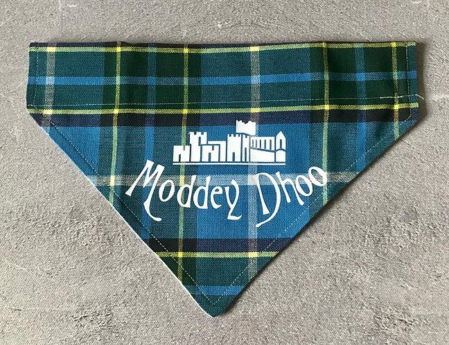 Laxey Manx Tartan Moddey Dhoo Over The Collar Dog Bandana