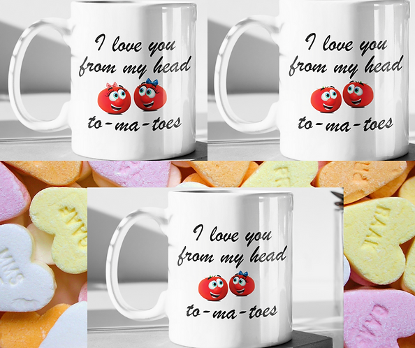 Personalised Mug - I Love You From My Head To-Ma-Toes