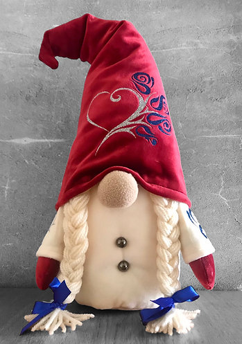 Girl Nordic Gnome with Red Hat