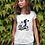 Thumbnail: Personalised Cheer Mom with Name in The Tail White T Shirt