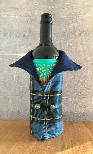 Manx Wool Tartan Wine Bottle Coat Style2