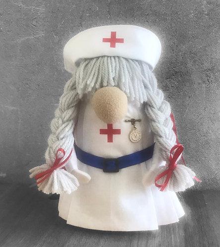 Handmade Nordic Nurse Gnome