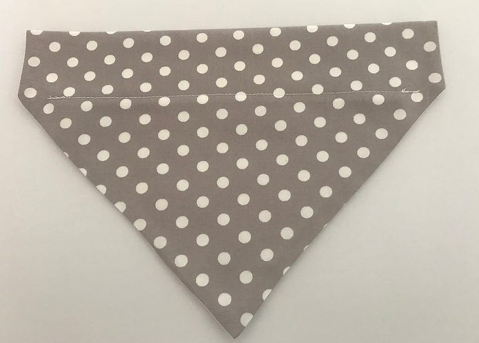Polka Dot Over The Collar Dog Bandana