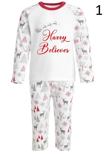 Personalised Family Christmas Pyjamas From £12.49 to £24.49