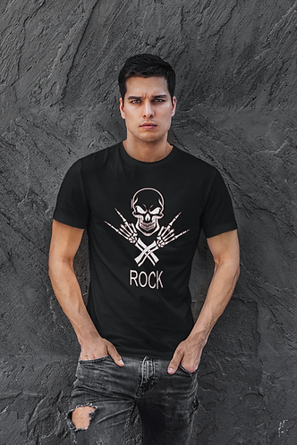 Rock Skeleton Skull and Crossed Arms T-shirt