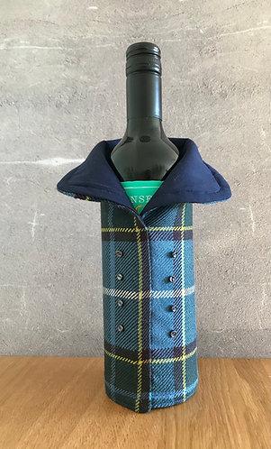 Manx Wool Tartan Wine Bottle Coat Style 1