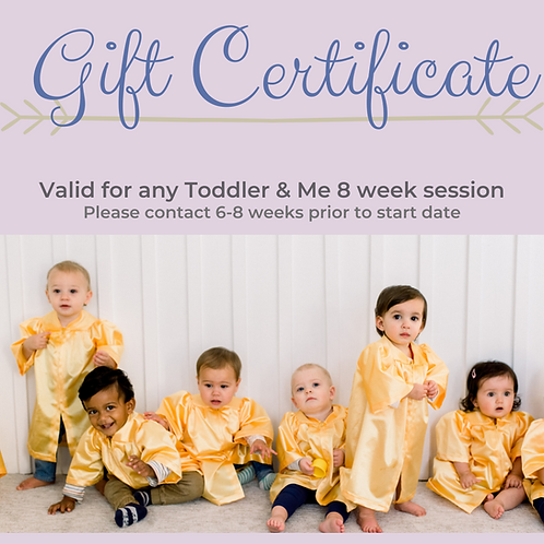 Gift Certificate for Toddler & Me!