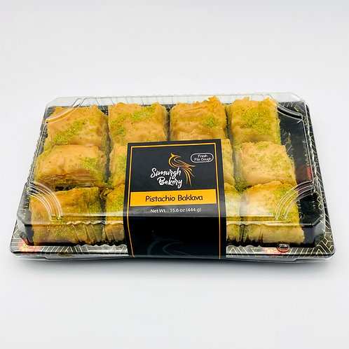Pistachio Baklava (12 pieces)