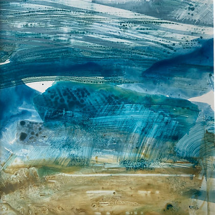 Leah Beggs  - Acrylic annd Ink on Yupo Paper - 20 x 20cm - HILLTOP.jpg