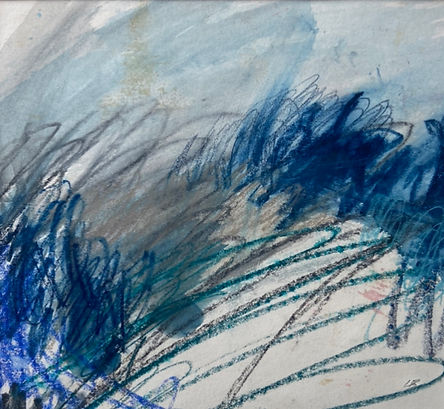 Leah Beggs 2020 - Acrylic and Pastel on Paper - 25 x 23cm  - RAIN II.jpg