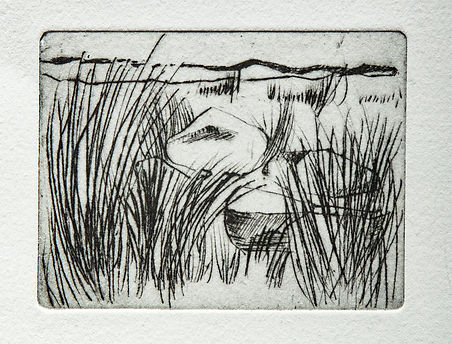 Out the Gap, 26 x 27cm, drypoint..jpg