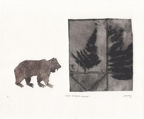 Kathleen Furey, Bear at Fern Forest, 19 x 23.jpg