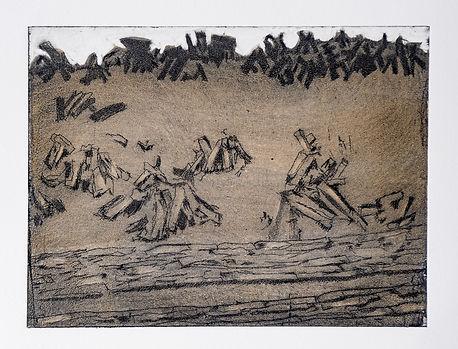 Turf Markings II, drypoint, 34 x 38cm.jp