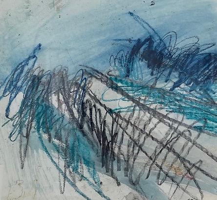 Leah Beggs 2020 - Acrylic and Pastel on Paper - 25 x 23cm - RAIN I.jpg