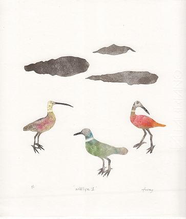 Kathleen Furey Wildlife I, 21.5 x 25cm Mixed Media Print .jpeg