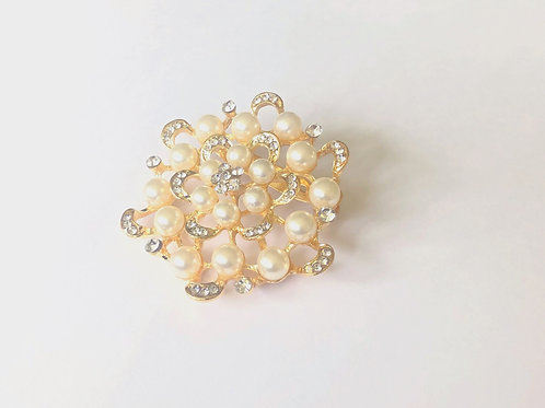 Floral 'Gold' Brooch