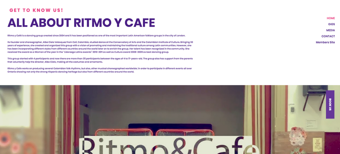 Ritmo y Cafe Dance Group - WEB DESIGN