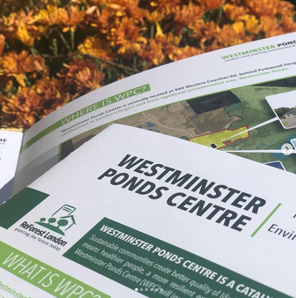 Westminster Ponds Centre Brochure Design