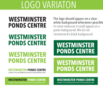 Westminster Ponds Centre Branding